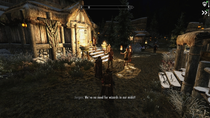 Welcome to Morthal, home of the lynch mob.