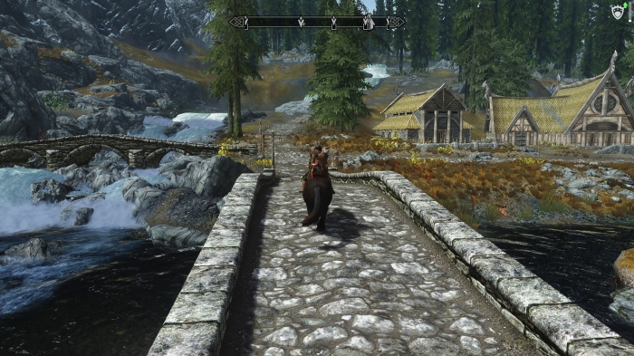 Over the bridge and through the woods, to Riverwood we go.