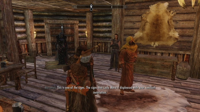 Dude, not to say your ideas aren't interesting, but I'm the Dragonborn and I used to run a tavern. Think about it.