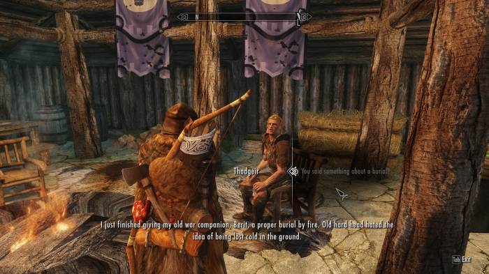 After seeing the inside of some draugr crypts, I'd say your friend had a point.