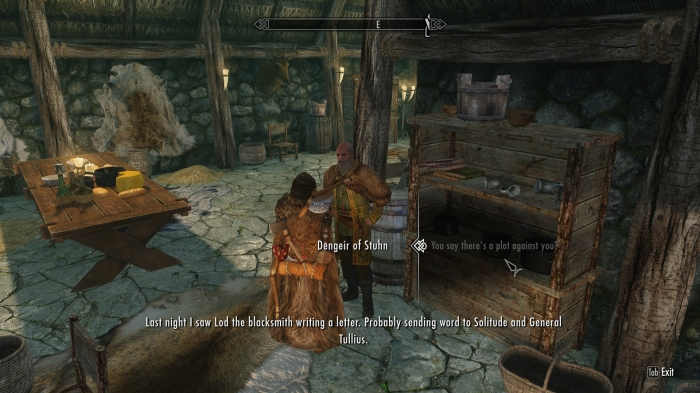 The blacksmith's in on it too! How dare he!