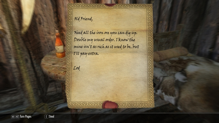 So it's true! The blacksmith CAN write!!!
