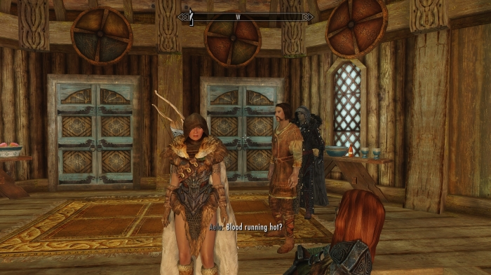 Wait, are you coming on to me, Aela? Must be the new outfit.