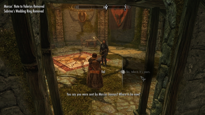 He's at my room in the Falkreath inn. No, I didn't mean it like that, ya perv.