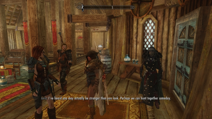 ... You're not helping my mood, Aela.